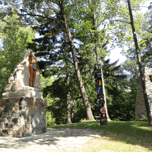 Native American Memorial - Inside Camp Chesterfield