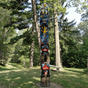 totem pole - Inside Camp Chesterfield