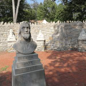 Jesus Bust - Trail of Religions - Inside Camp Chesterfield