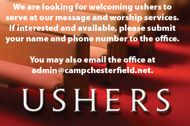 Looking for Ushers