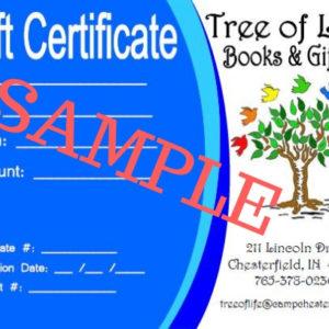 Bookstore Gift Certificate